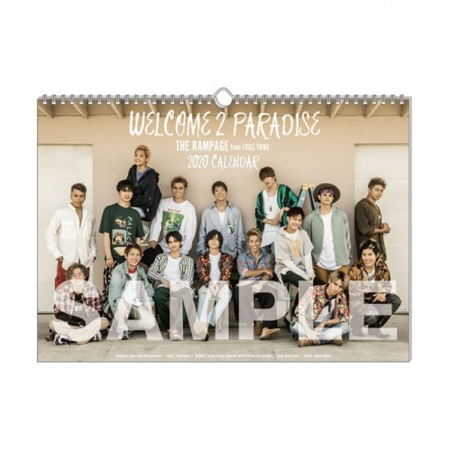 THE RAMPAGE from EXILE TRIBE 2020 Official Calendar